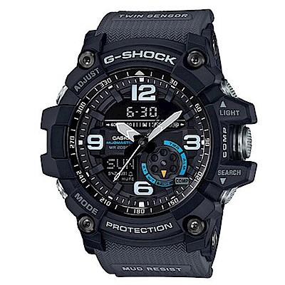 G-SHOCK  極限冒險雙重感應器運動雙顯錶-(GG-1000-1A8)/55.3mm