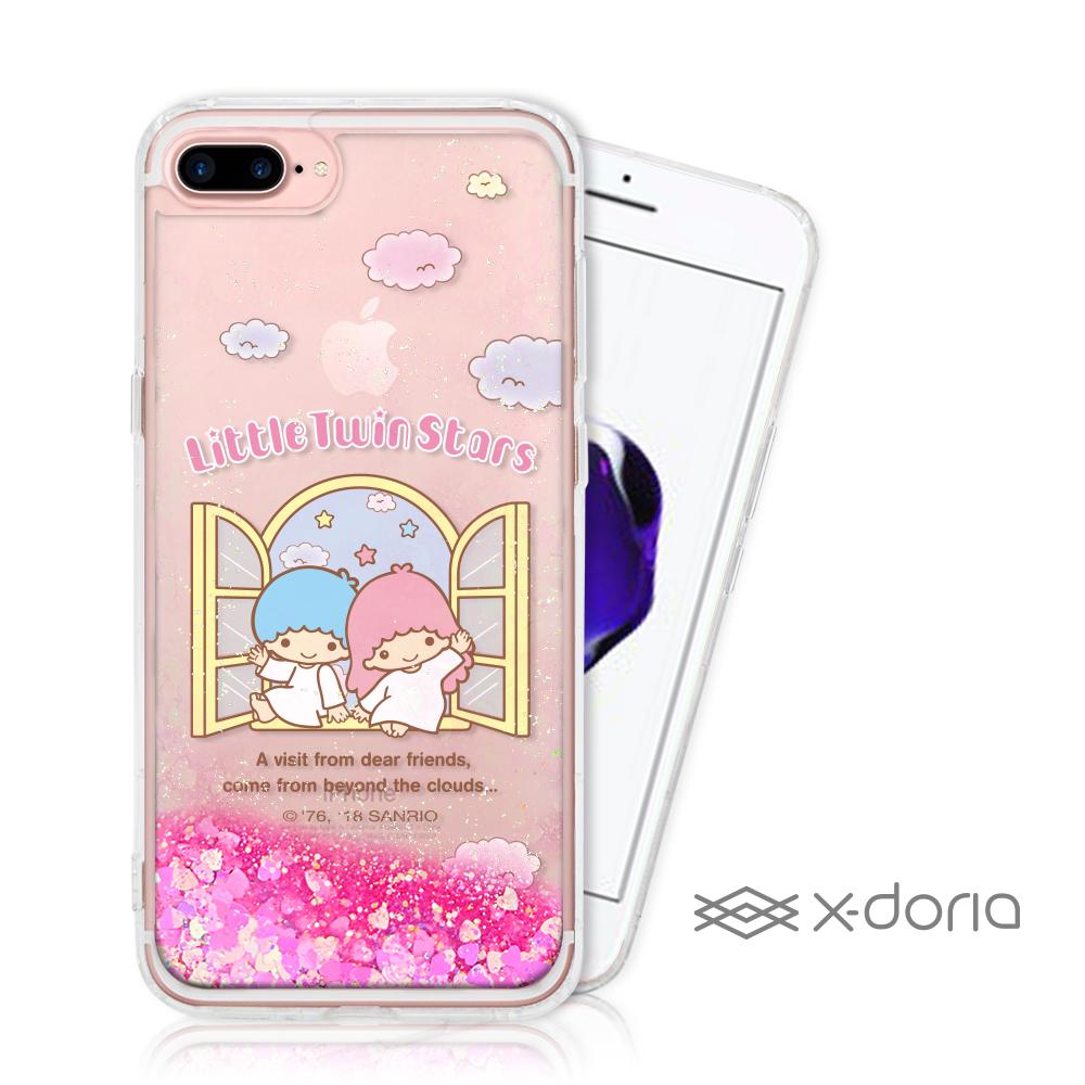 Hello Kitty iPhone 7/8 Plus 亮片流沙手機軟殼 - 美麗天堂