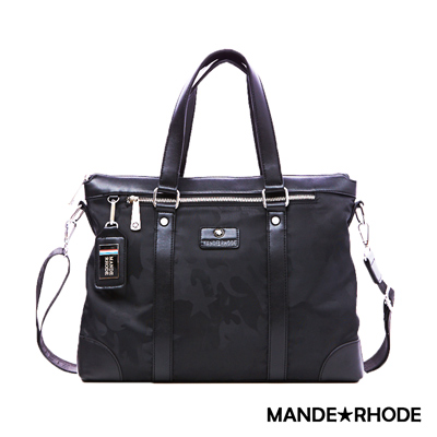 MANDE RHODE - 卡莫雷茲 - 美系潮男風格兩用托特包 - 迷彩黑
