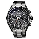 CITIZEN 星辰 廣告款光動能GPS衛星對時錶三眼腕錶-黑(CC4000-59L)