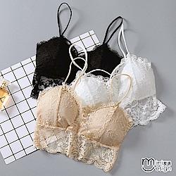 後鏤空蕾絲罩杯式小可愛 三色-mini嚴選