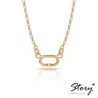 STORY故事銀飾-Charm扣扣系列-基礎項鍊(黃K金)