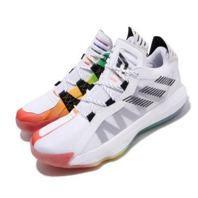 adidas 籃球鞋 Dame 6 GCA 運動 男鞋 愛迪達 彩虹驕傲 李拉德 周年款 彩 白 FX4796
