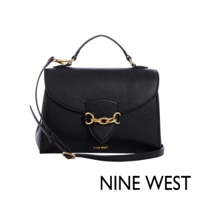 NINE WEST CHANNA鍊條裝飾方包-黑色(115720)