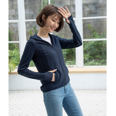 【LEIDOOE】女防曬外套-丈青(11025)