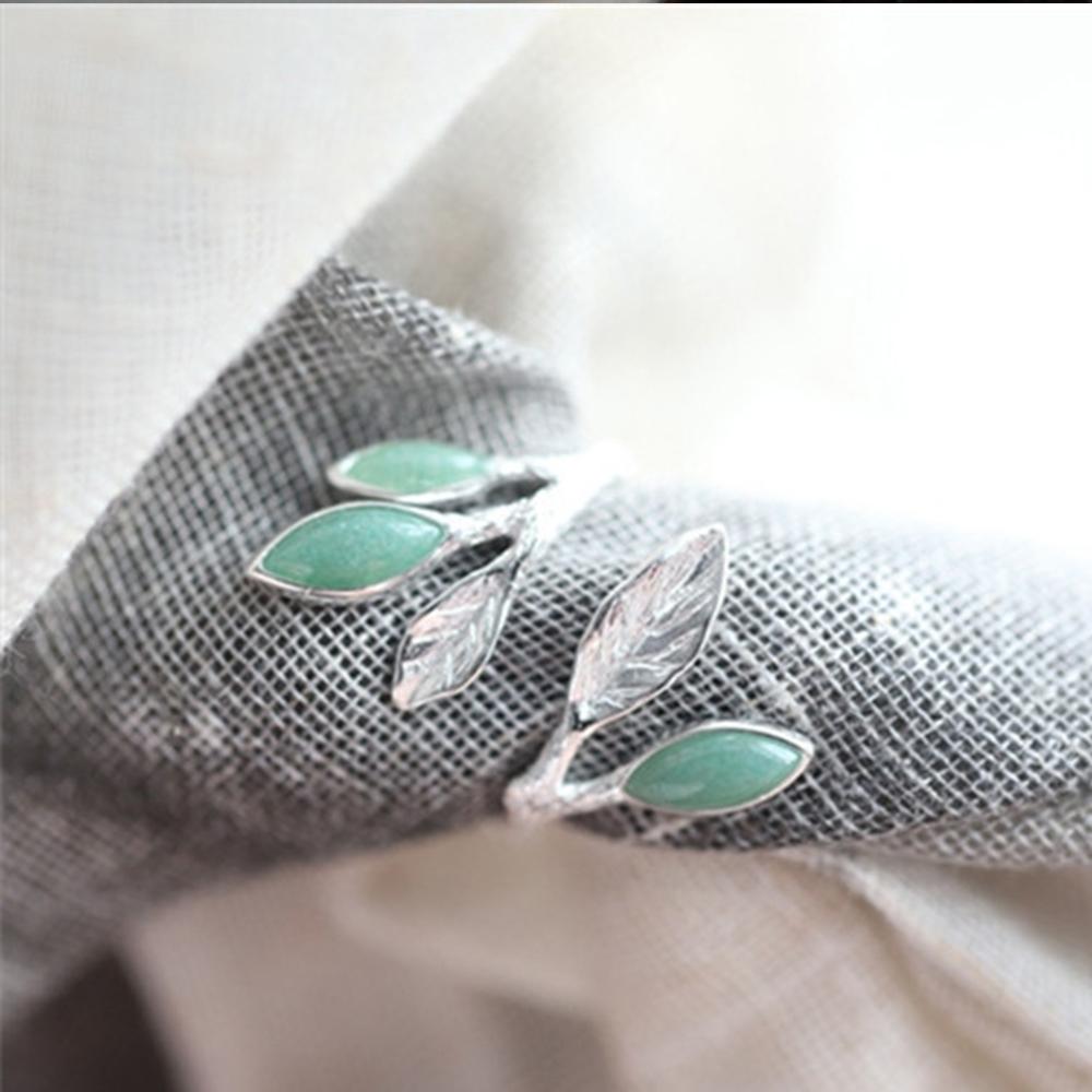 東方美學藝術素銀文藝純銀鑲嵌東陵玉戒指-設計所在