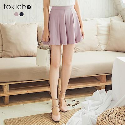 東京著衣 優雅舒適傘擺短裙-S.M(共二色)