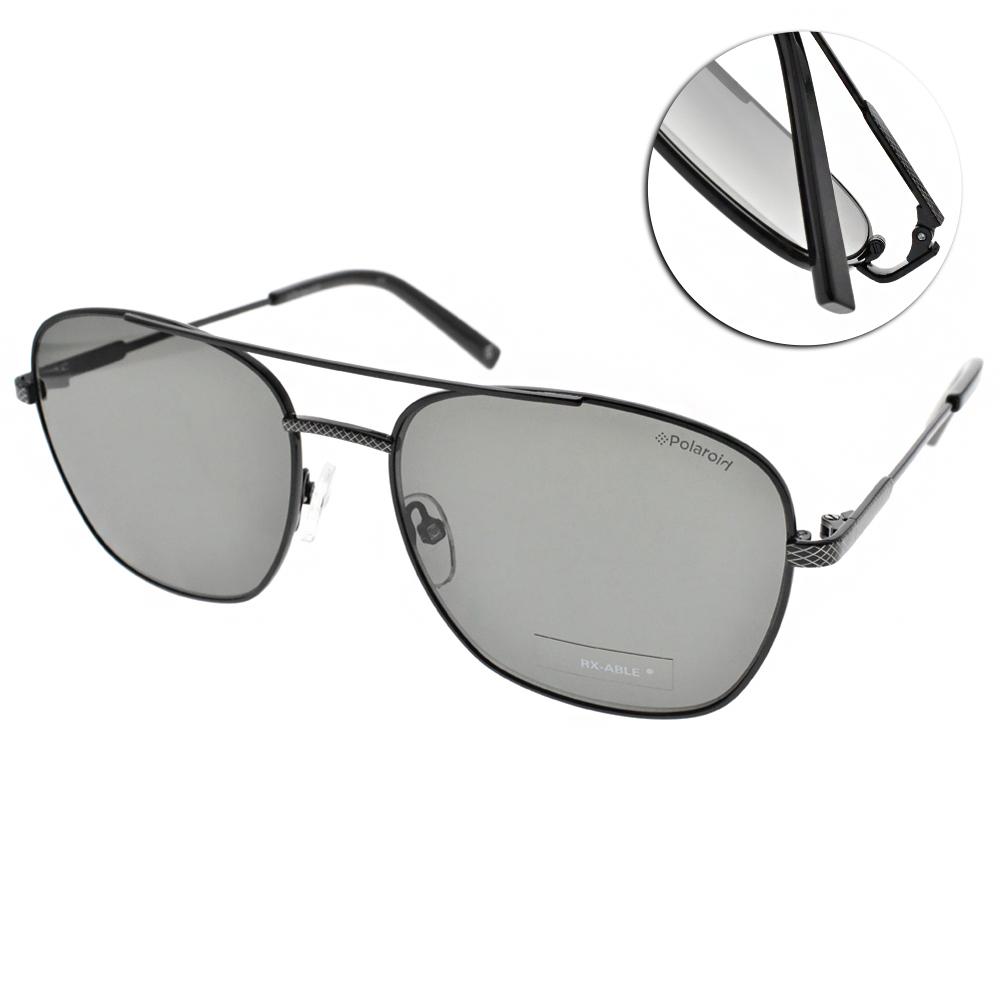 Polaroid 偏光太陽眼鏡/運動輕時尚/黑-綠 #PLD2068SX 807UC