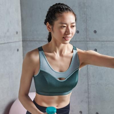 蕾黛絲-LadieSport運動 Level 4 吸震背心 C.E運動內衣 個性綠