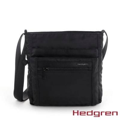 【Hedgren】INNER CITY四層收納 側背包-墨黑