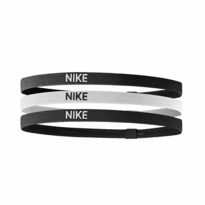 Nike 髮帶 Elastic Hairbands 女款 三入一組 矽膠 止滑 運動休閒 黑 白 NJN04036OS