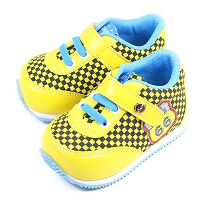Swan天鵝童鞋--賽車小童機能學步鞋 1567-黃