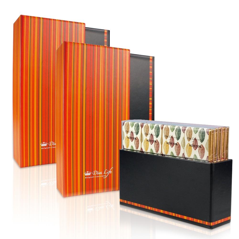 Diva Life 比利時純巧克力80片裝-字典禮盒(兩盒組)