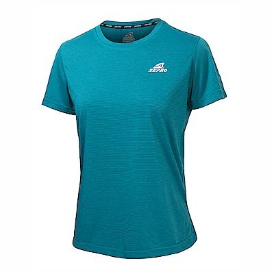 【ZEPRO】女子能量輕感透氣排汗短T-藍綠