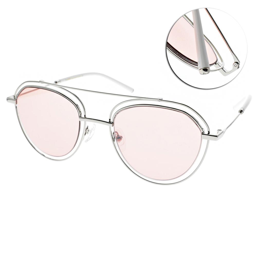CARIN太陽眼鏡 秀智代言 韓流造型款/銀-粉 #EDIE C2