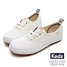 Keds SCOUT 機能防潑水綁帶休閒鞋-白