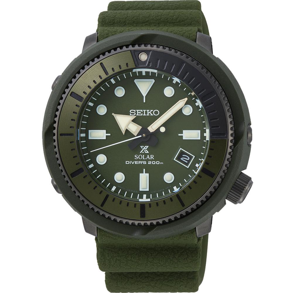 SEIKO PROSPEX  探險者太陽能潛水錶(SNE535P1)47mm/綠