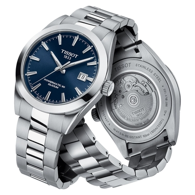 TISSOT 天梭 GENTLEMAN 80小時矽游絲紳士機械手錶 T1274071104100
