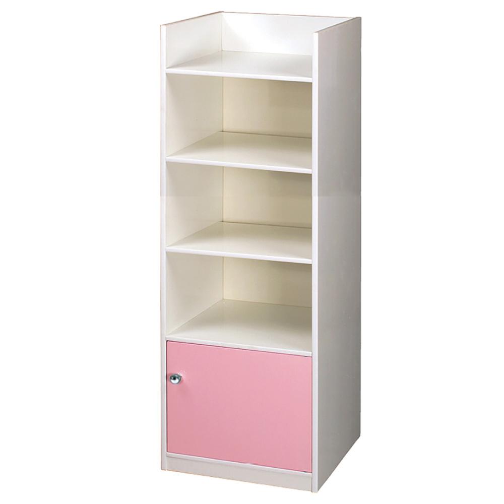 文創集 艾倫環保1.4尺塑鋼單門四格書櫃(四色)-43x40x165cm-免組