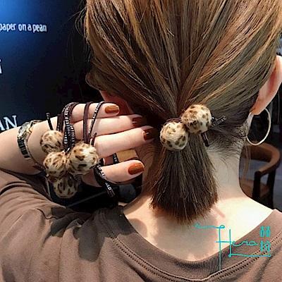 Hera 赫拉 豹紋圓形搭方形髮圈(2款)