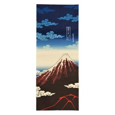 日本丸真 北齋典藏日式手巾-山下白雨