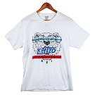 KENZO 新款印刷條紋虎頭短T (白色/男款)