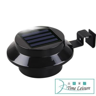 Time Leisure (2入)戶外防水太陽能庭院屋簷壁燈 黑帽款