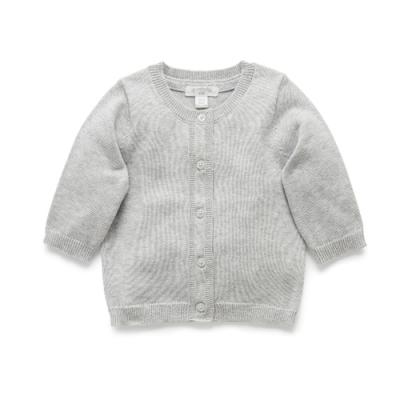 澳洲Purebaby有機棉嬰兒針織外套-新生兒必備款