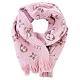 Louis Vuitton Logomania Shine 羊毛金屬絲線花卉裝飾圍巾(芭蕾粉) product thumbnail 1