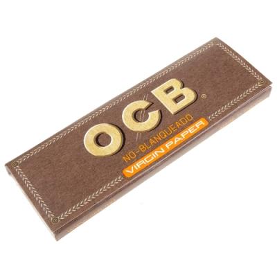 OCB 法國進口-Virgin-純天然未漂白超薄捲煙紙-1 1/4(76mm)*5包