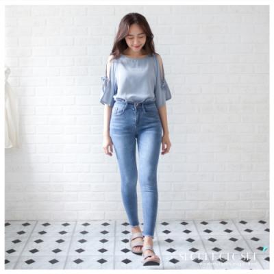 Secret Closet-緊身彈力高腰牛仔褲