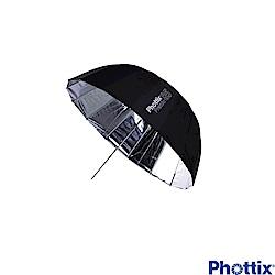 Phottix Premio85公分 16根玻纖骨架 半圓弧外黑內銀反射傘-85372