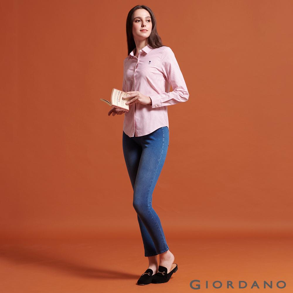 GIORDANO  女裝8139 超彈力激瘦牛仔緊身褲-01 中藍色 @ Y!購物