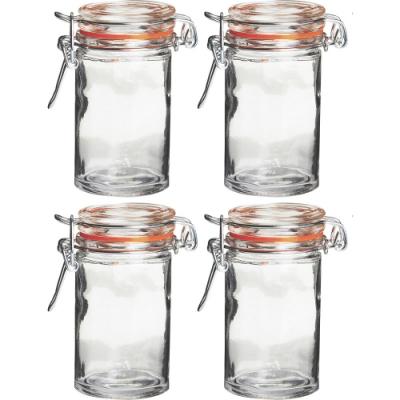 《Premier》扣式玻璃密封罐4入(橘60ml)