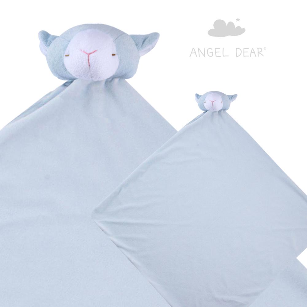 美國 Angel Dear 大頭動物嬰兒毛毯禮盒版 (羊咩咩系列)