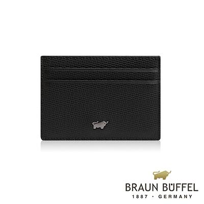 BRAUN BUFFEL -席德系列5卡單層卡夾 - 雅典黑