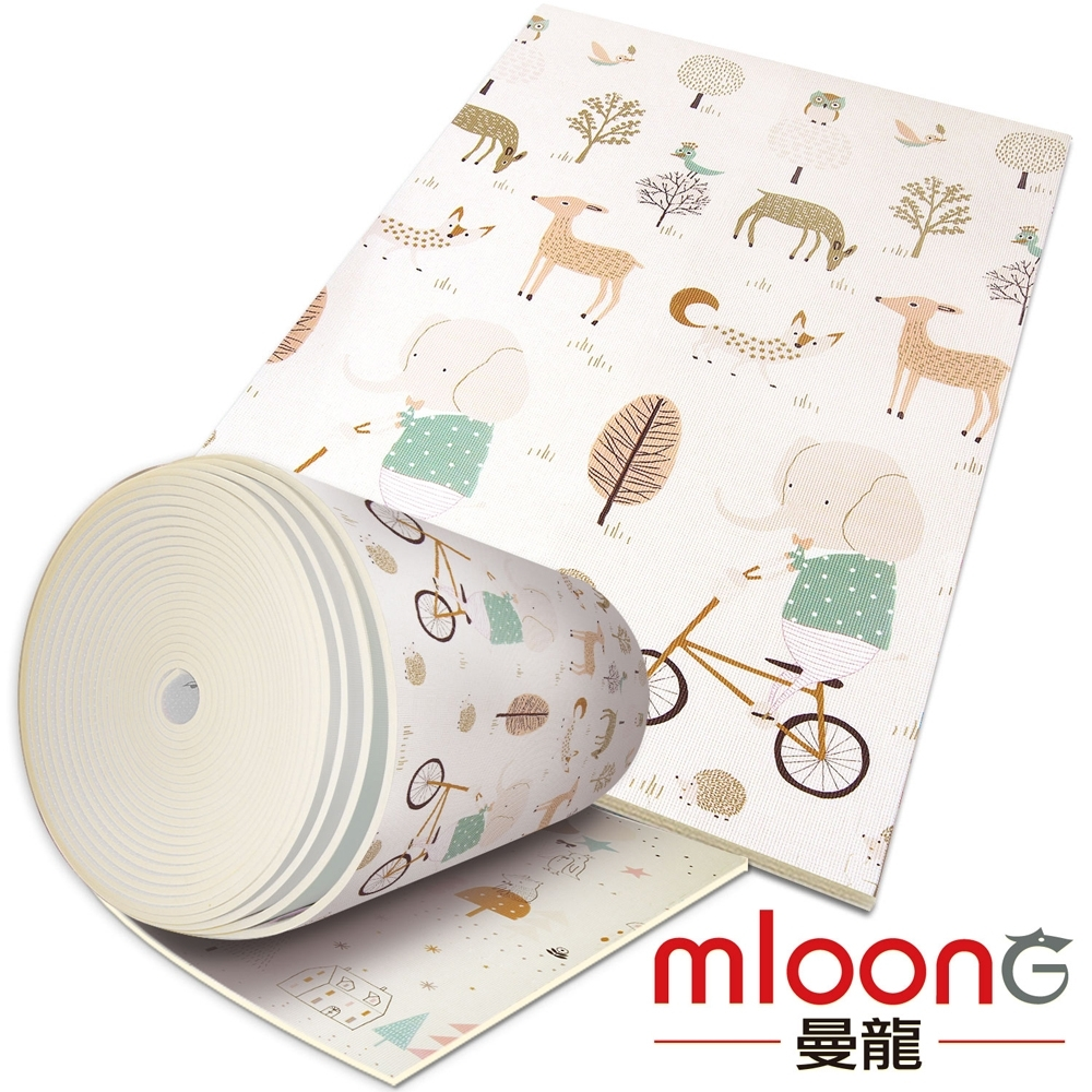 Mloong曼龍 客製化XPE環保爬行墊/地墊 -森林大象 (每10公分計價)
