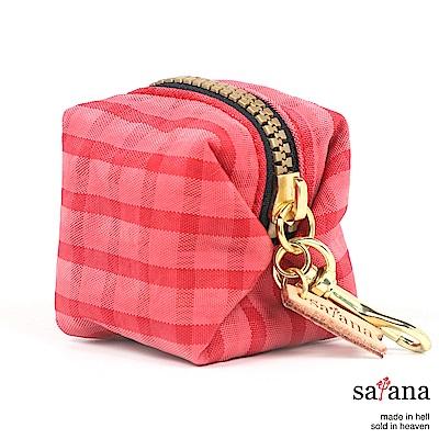 satana - Soldier 叭噗包 - 粉紅格紋