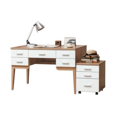 柏蒂家居-維也納4尺五抽書桌/工作桌櫃組-160x60x79cm