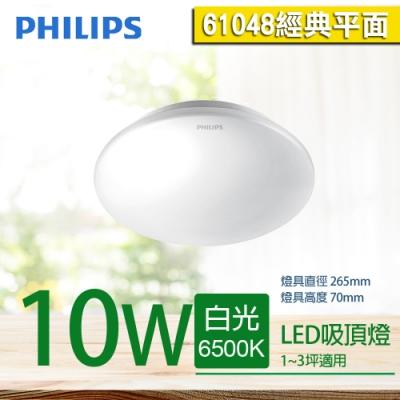 【PHILIPS 飛利浦】恒祥 LED 吸頂燈 10W  61048 (經典平面)