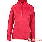 Wildland 荒野 0A62611-08紅色 女彈性緹花刷毛保暖上衣
