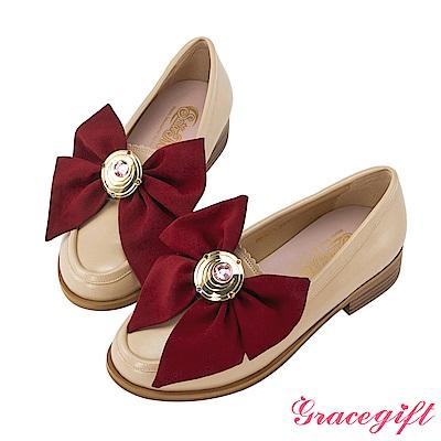 Grace gift-美少女戰士變身器緞帶樂福鞋 杏