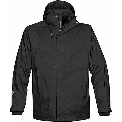 加拿大STORMTECH頂級防風防水長版機能修身大衣-男-黑