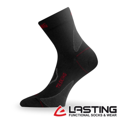 【LASTING捷克】男款美麗諾羊毛抗菌除臭吸濕排汗中筒運動襪/薄襪LT-TNW黑