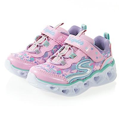 SKECHERS (童) 女嬰系列 燈鞋 HEART LIGHTS-20180NLPMT