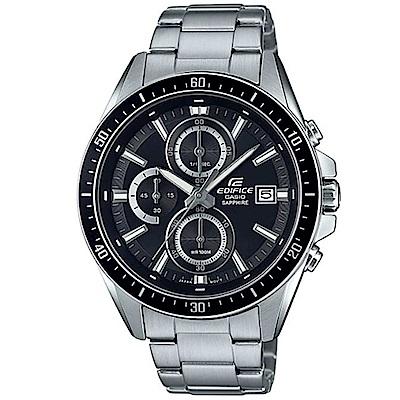 EDIFICE簡潔賽車設計指針不鏽鋼錶-黑面(EFR-S565D-1A)/41mm