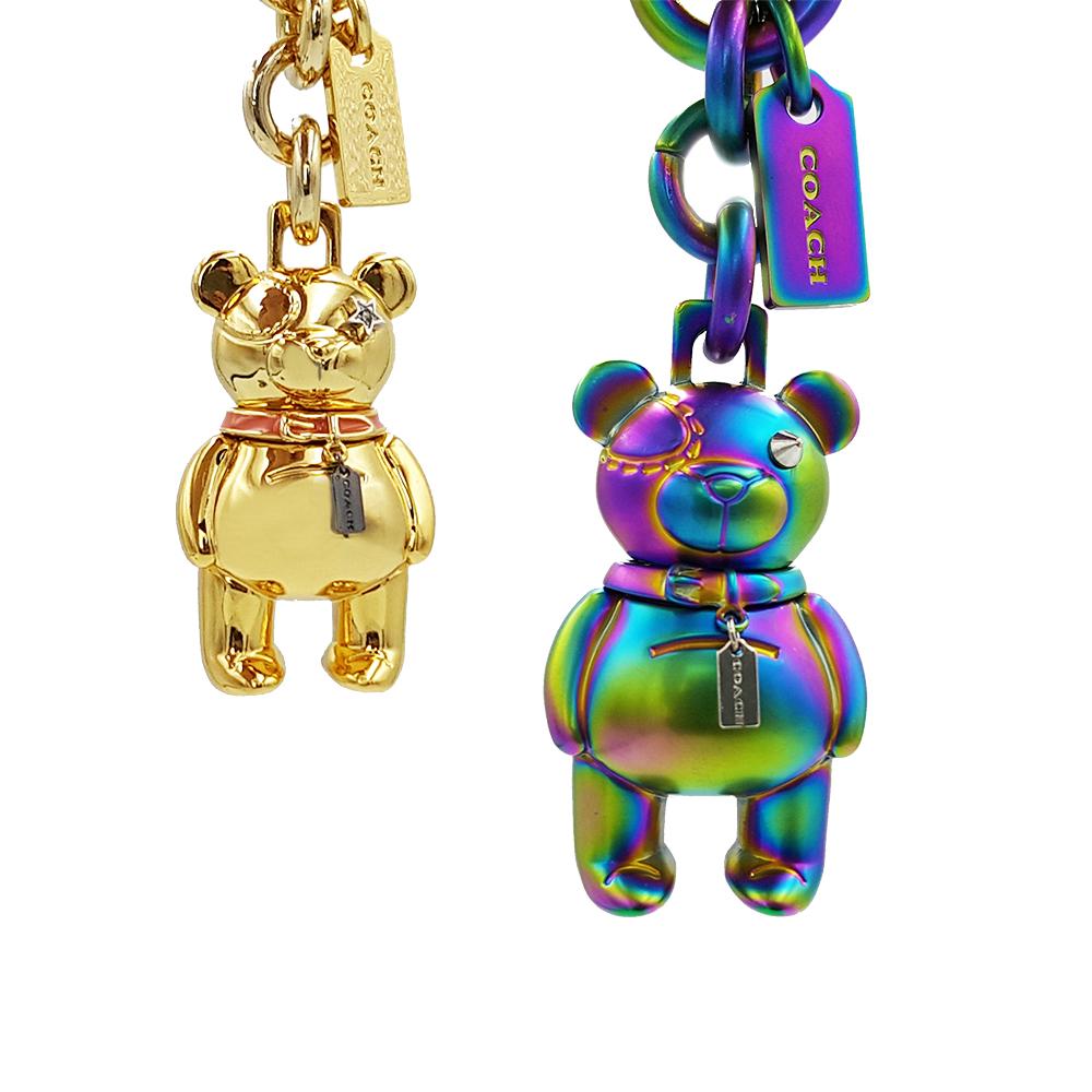 3D立體金屬熊鑰匙圈/包包掛飾COACH