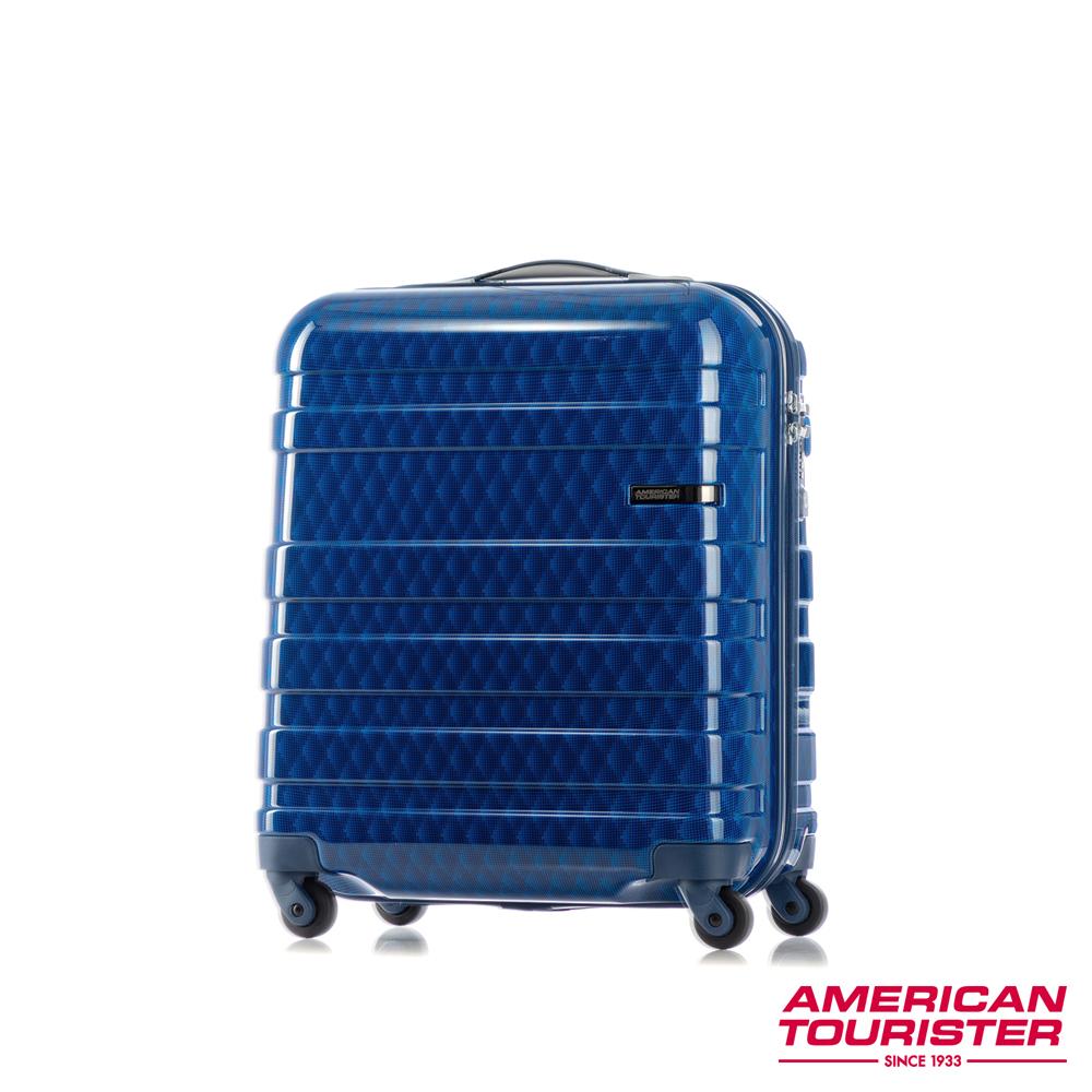 AT美國旅行者 18吋HS MV+ Deluxe時尚硬殼飛機輪TSA登機箱(幾何藍)