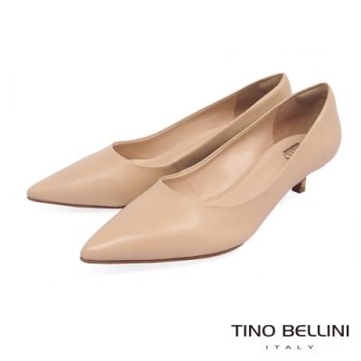 Tino Bellini巴西進口簡約俐落4cmOL低跟鞋_膚