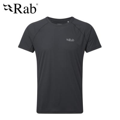 【英國 RAB】Pulse SS Tee 透氣短袖排汗衣 男款 烏木灰 #QBU79